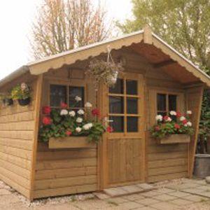 Tuinhuis met luifel