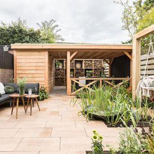 Overkapping met plat dak – Zeist