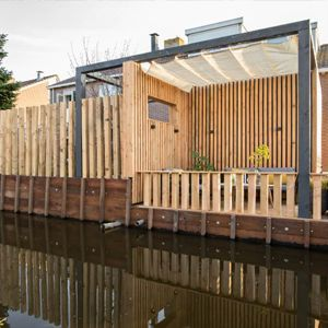 Overkapping met plat dak – Volendam