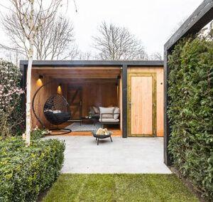 Tuinhuis met overkapping -Bunschoten